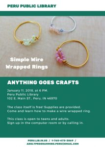 Wire Wrapped Rings - Anything Goes Crafts