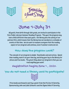 Summer reading starts June 1st. All youth are invited to join - no library card is required. Registration begins June 1st. Read, record the time spent reading, and earn prizes.